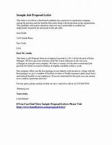 Job Offer Counter Proposal Letter Sample Sample Job Proposal Letter