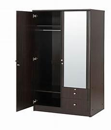 solid wood 2 door wardrobe with mirror buy at best