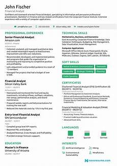 Cv For Finance Financial Analyst Resume The Ultimate 2020 Guide