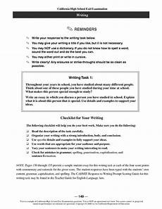 Example Essay Prompts Unforgettable Cbest Essay Examples Thatsnotus