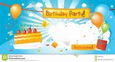 Birthday Invite Images Birthday Party Invitation Stock Photos Image 31564523