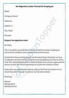 Sample Of Noc Letter From Company No Objection Letter Format Samples How To Write No