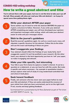 How To Write Copyright Top Tips 5 How To Write A Great Abstract And Title