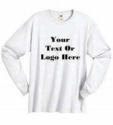 Design Your Own Long Sleeve Shirt Custom Personalized Design Your Own Long Sleeve T Shirt