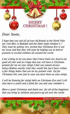 Merry Christmas Letter Sample Letters To Santa Free Samples Letters To Santa From