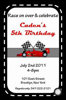 Free Printable Race Car Birthday Invitations Race Car Birthday Invitation Template