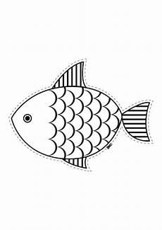 kostenlose malvorlage tiere fisch zum ausschneiden zum