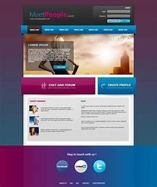 Webtemplate Psd Meetpeople Web Template Psd By Martz90 On Deviantart