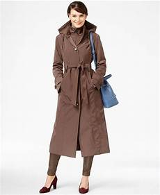 plus size trench coats for 4x foggy fog plus size layered maxi trench coat in brown