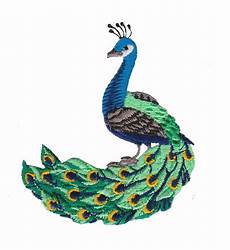 peacock applique small peacock iron on patch applique
