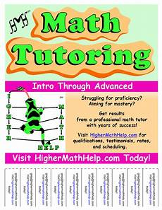 Math Tutor Flyer Examples Promotions Higher Math Help