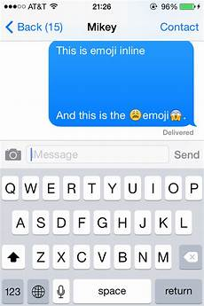 Emoji Pictures Text Objective C Ios Sharing Images With Text In Messages