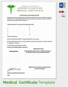 Medical Certificate Templates Sample Medical Certificate 54 Download Documents In Pdf