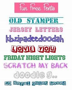 Fun Fonts Mimi Lee Printables Amp More Free Fun Fonts 1