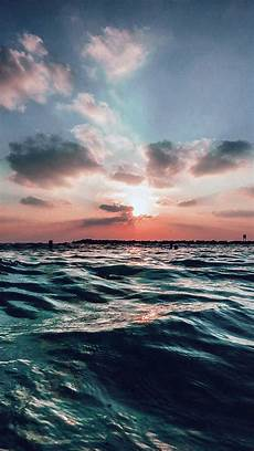 Iphone Wallpaper Nature Sky by Sunset Sea Sky Summer Blue Water Nature Iphone 6