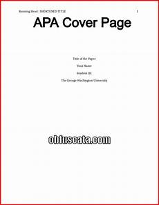 Apa Style Coverpage Apa Cover Page
