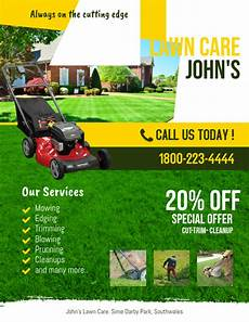 Lawn Mower Flyers Copy Of Lawn Service Flyer Template Postermywall