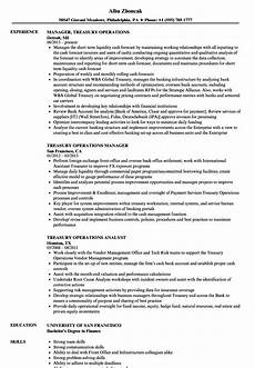 Treasury Resume Back Office Resume Format Doc Download Best Resume Examples