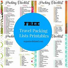 Printable Packing List Travel Packing List Printables