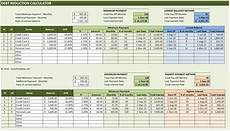Calculate Debt Repayment Debt Reduction Calculator Excel Templates