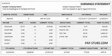Pay Stub Sample Real Sample Pay Stub Instant Online Pay Stubs Pay Stubs