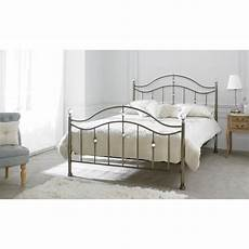 cygnus metal bed frame with finials metal beds
