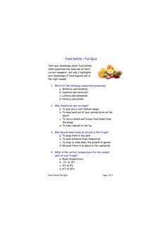 Health And Hygiene Quiz Fun Food Safety Quiz Teaching Resources