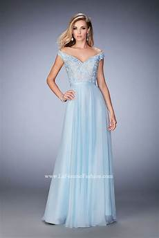 La Femme Light Blue Dress La Femme 22737 Prom Dress Prom Gown 22737