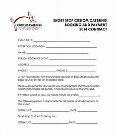 Catering Contracts Samples Free 13 Sample Catering Contract Templates In Pdf Ms
