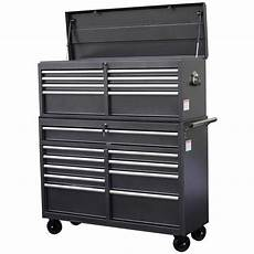 wen 52 in 18 drawer tool chest and cabinet combo gray