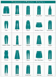 Style Chart A Visual Glossary Of Trousers Pants Styles More Visual