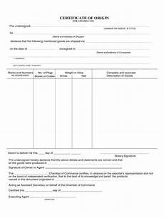Generic Certificate Of Origin Template Certificate Of Origin Form 5 Free Templates In Pdf Word