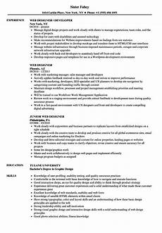 Web Design Resume Web Designer Resume Samples Velvet Jobs