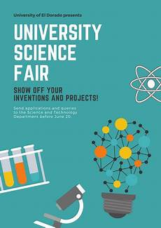 Science Fair Banner Template Customize 148 Science Fair Poster Templates Online Canva