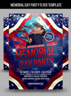 Memorial Day Flyer Memorial Day Party Flyer Template By Lapabrothers