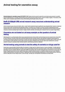 Animal Testing Essays Animal Testing For Cosmetics Essay By Yulya Smirnova Issuu