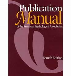 American Pychological Association The Publication Manual Of The American Psychological