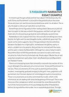 Examples Of Personal Narrative Essays 5 Paragraph Narrative Essay Example