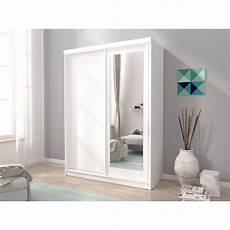 mini 2 sliding doors bedroom small mirrored wardrobe white
