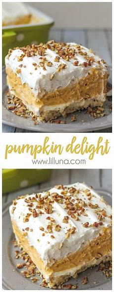 best pumpkin delight dessert recipe lil