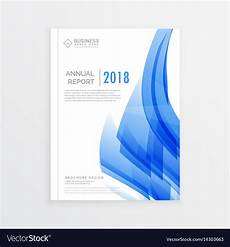 Report Cover Page Templates Free Download Business Annual Report Cover Page Template In A4 Vector Image