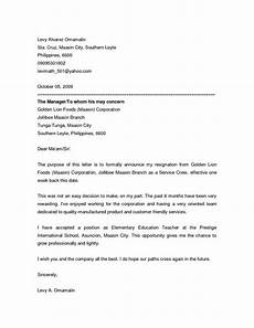 Departure Letter To Employer Resignation Announcement Letter This Resignation