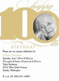 100th Birthday Invitation 100th Milestone Birthday Birthday Invitations