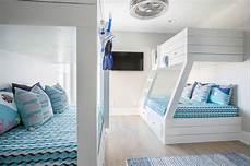 white shiplap bunk beds built in ladder cottage boy s room