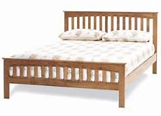 yeoville hevea wood honey oak bed frame sensation