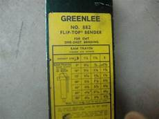 Greenlee 881 Bender Chart Greenlee 882 Ram Travel Decal Electrician Talk