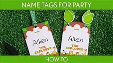 How To Make Name Tags How To Make Name Tags For Party Baby Shower Safari