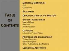 Personal Development Portfolio Sample Professional Portfolio Sample