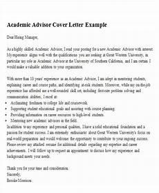 Academic Job Cover Letter Free 6 Sample Academic Advisor Cover Letter Templates In