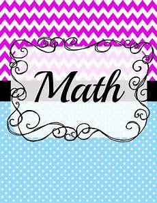 Maths Cover Page Design 12 Math Binder Covers Kittybabylove Com